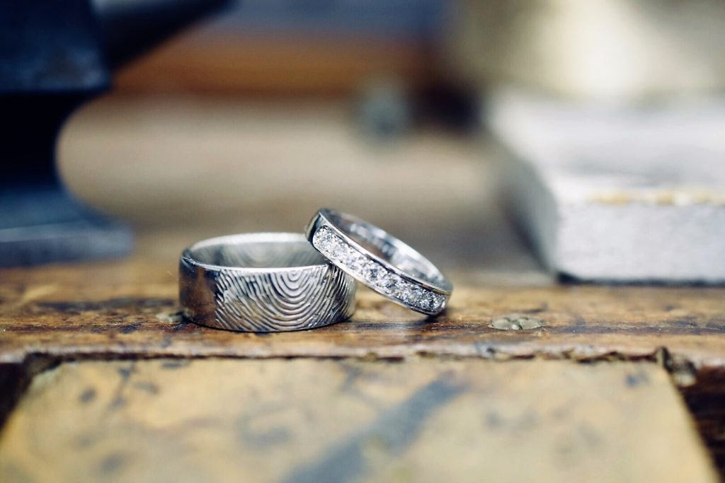 Jewellery being worked on in our workshop